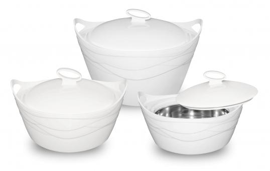 SMAK: Thermoschüsseln 3er Set mit Deckel   Warmhalten Speisegefäss für Essen Suppen Grillgut Babynahrung   Warmhaltebehälter besteht aus Edelstahl   Essensbehälter Thermotopf auch für unterwegs