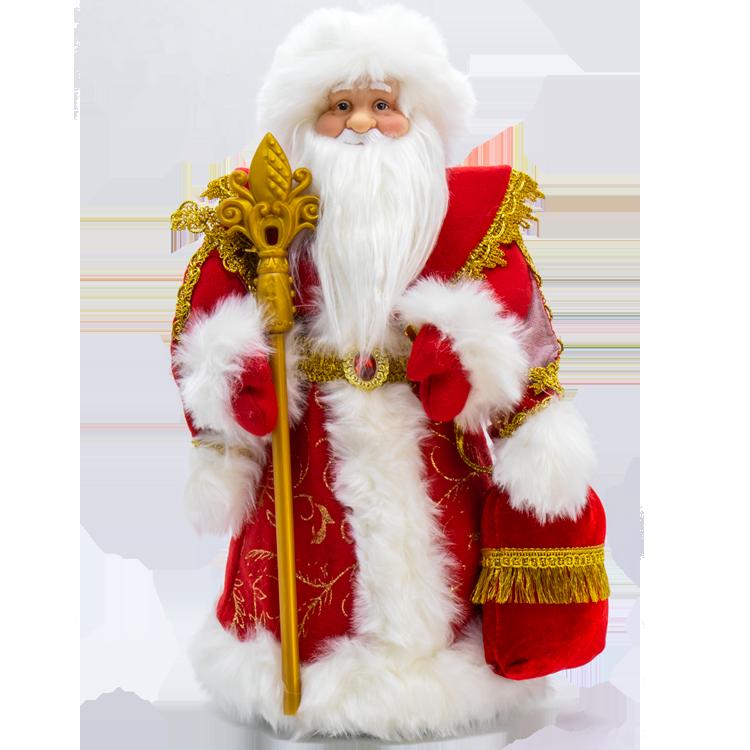 """Figur Weihnachtsmann """"Ded Moroz"""" mit Geschenkfach für Süßigkeiten, 40 cm"""