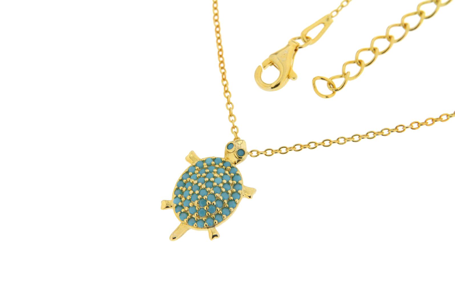 Halskette mit Anhänger Schildkröte