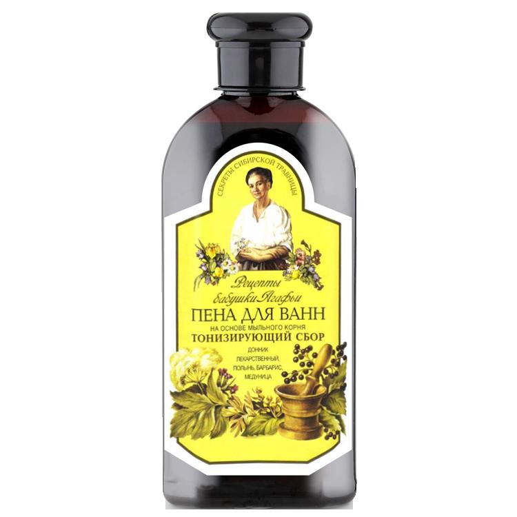 """Badeschaum  mit Seifenwurze """"Rezepten von Omi Agafja"""" tonisierend, 500 ml"""