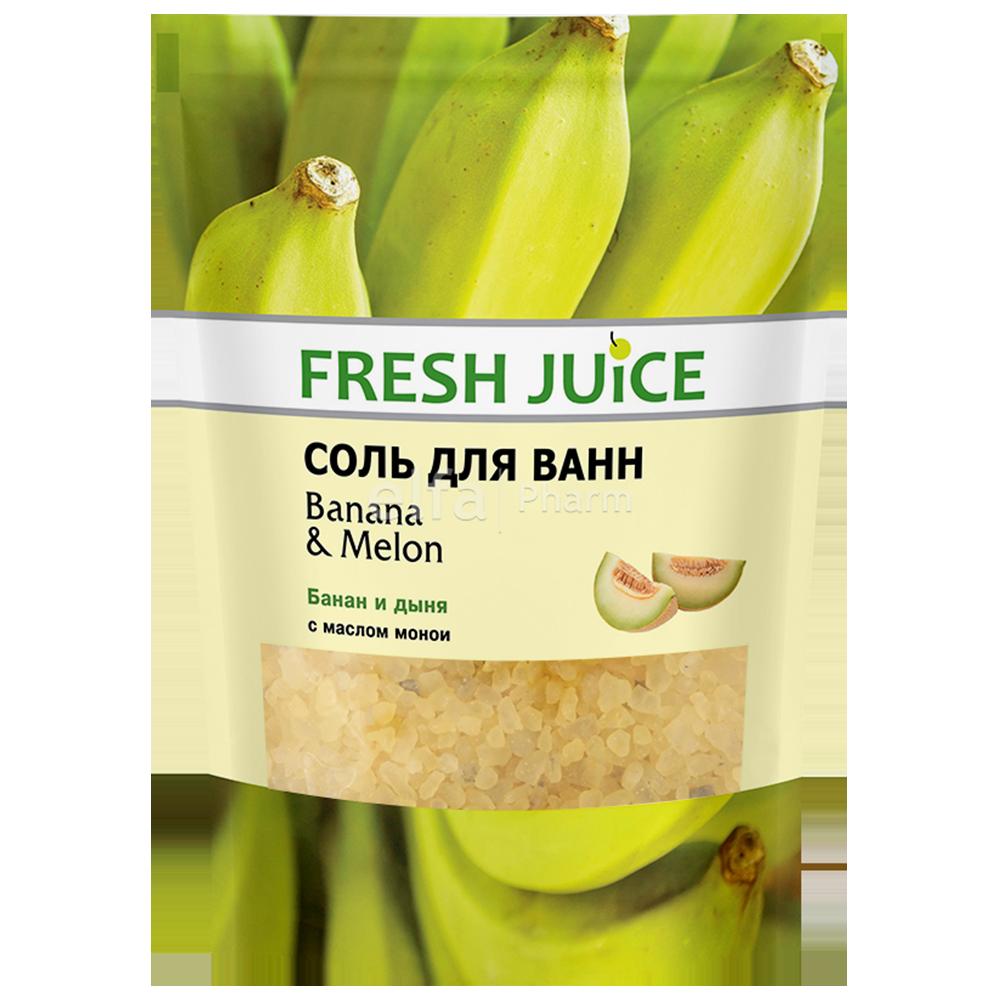 """Badesalz """"Fresh Juice"""" Banane und Melone. Doy-Pack 500 ml"""