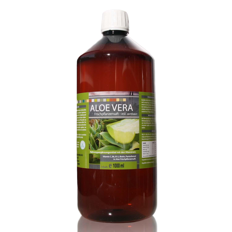 Aloe Vera 99,6 % Frischpflanzensaft - 1000 ml