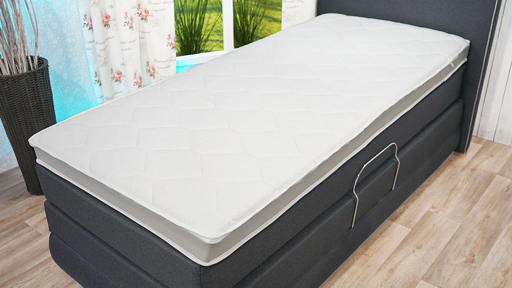 BEM Sunset Topper Comfort Tencel-Bezug: BEM | Premium | Topper | Matratzenauflage | Gesunder Rücken | Größen | 80x200 | 90x200 | 160x200 | 180x200 | 7cm | 10cm | 12cm | Härtegrad | H2 | H3 | Topper