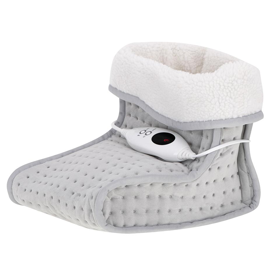 Kuscheliger Fußwärmer mit Fernbedienung | Elektrisch | 6 Heizstufen | Innenfutter waschbar