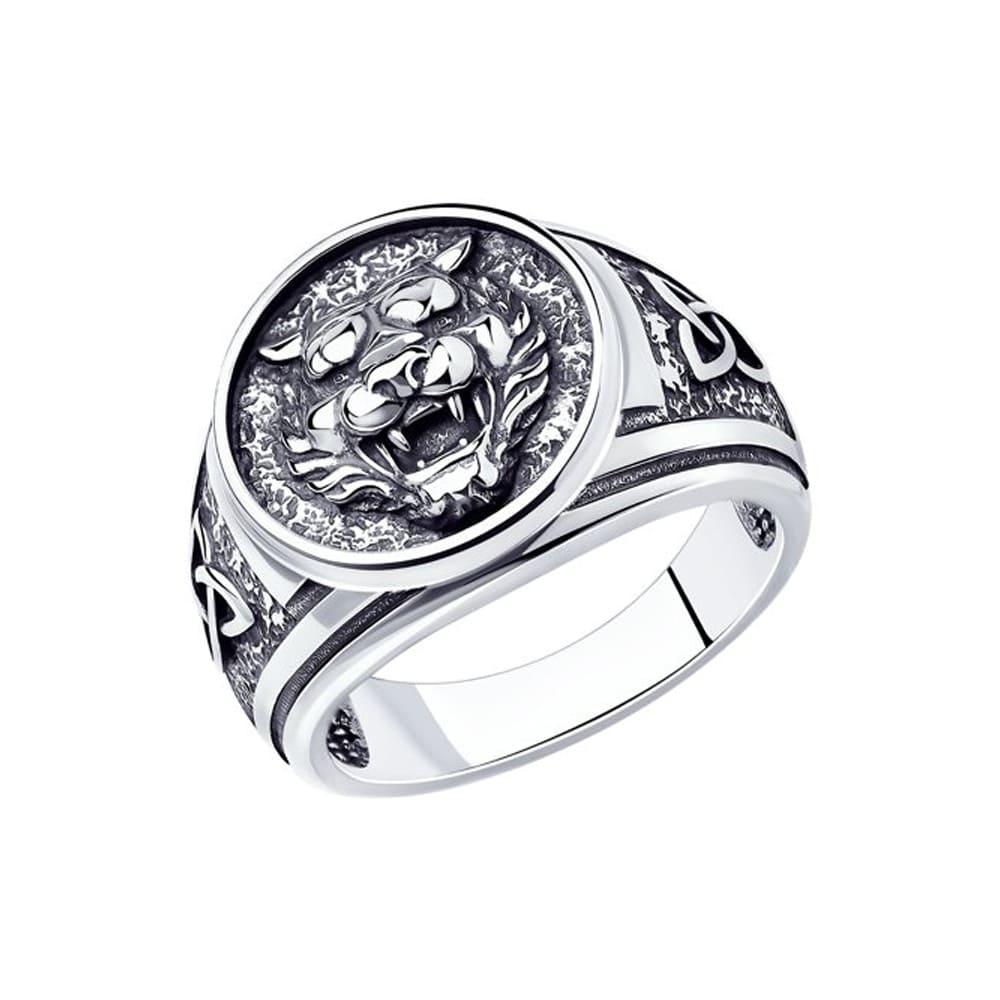 Herrenring aus 925 Silber Löwe | Kaufbei Schmuck 20.5 mm (65)