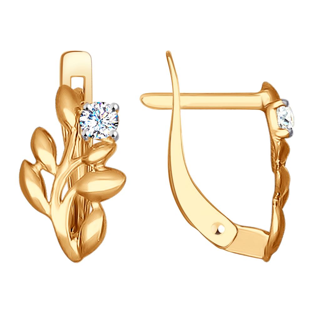 Ohrhänger mit Zirkonia in Gold | Kaufbei Schmuck