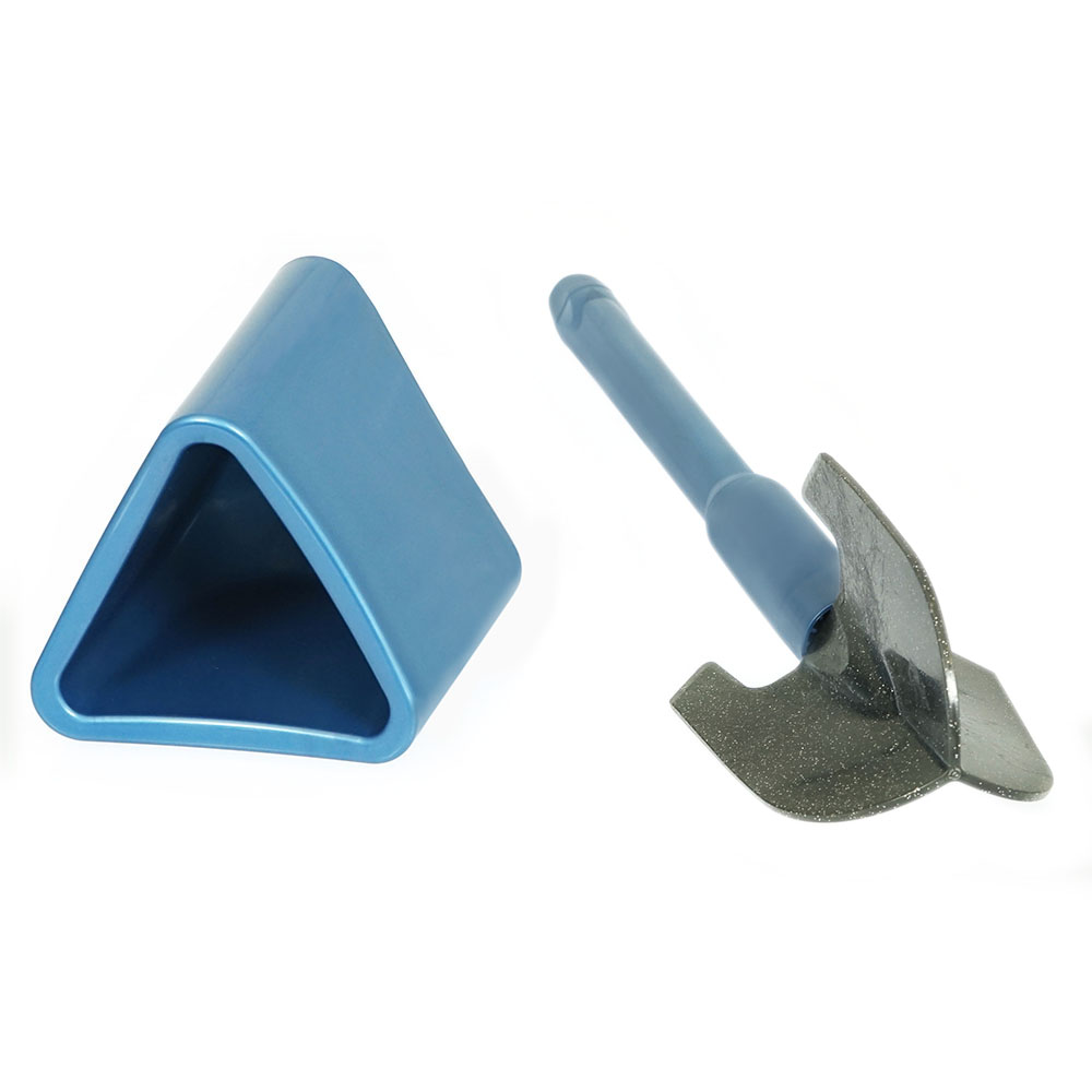 Toinado WC-Bürste: befüllbarer Stiel mit Dosierung   Bad & WC-Reiniger   spezielle Unterrandlamellen   in zwei Farben   Weiß oder Blau wählbar